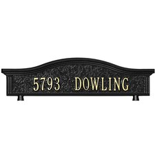 Personalized Mailbox Topper Address Sign