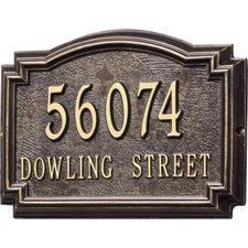 Williamsburg 2 Line Standard Wall Address Plaque