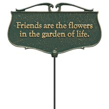 Friends are the Flowers Garden Poem Garden Sign