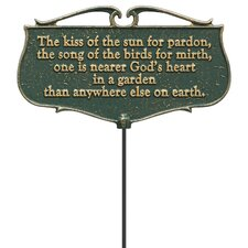 The Kiss of the Sun Garden Poem Garden Sign