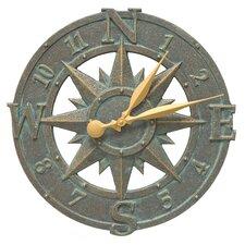 "16"" Compass Rose Clock"