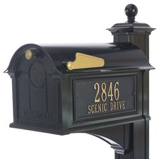 Balmoral Post Mounted Mailbox with Outgoing Mail