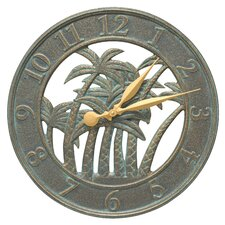 "18"" Palm Indoor/Outdoor Wall Clock"