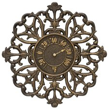 Filigree Silhouette Indoor/Outdoor Wall Thermometer