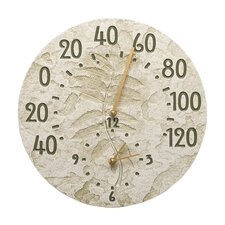 Sumac Indoor/Outdoor Wall Clock and Thermometer