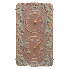 Acanthus Indoor/Outdoor Wall Clock and Thermometer