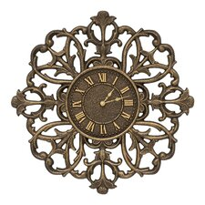 "21"" Filigree Silhouette Indoor/Outdoor Wall Clock"