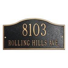 Rolling Hills Address Plaque