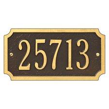 Cut Corner Address Plaque