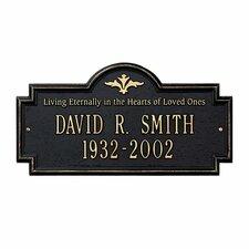 Arlington Standard 'Living Eternally' Memorial Plaque