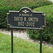 Arlington Standard 'In Memory of' Lawn Memorial Plaque