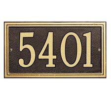 Double Line Standard Address Plaque