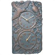 Cardinal Clock Themometer