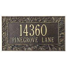 Pinecone Frame Standard Address Plaque