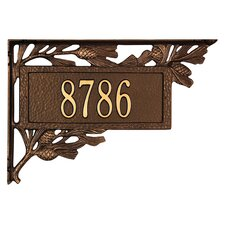 Pinecone Mailbox Address Sign