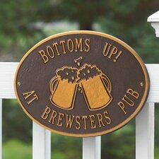 Hawthorne Beer Mugs Standard Garden Plaque