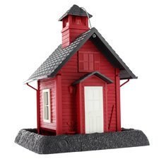 Lil' Red School House Village Decorative Bird Feeder