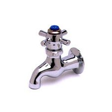 Wall Mounted Faucet with Double Cross Handles