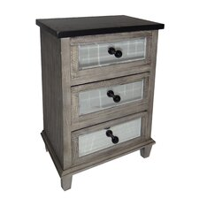 3 Drawer Wood Cabinet