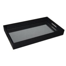 Raised Bubble Tray with Bevelled Mirror