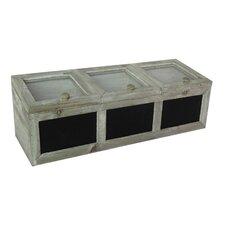 3-Section Chalkboard Storage Box