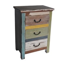 Wooden Chest with 3 Drawers