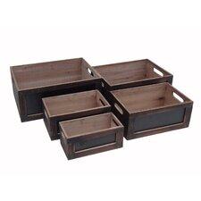 5 Piece Wooden Crates Set