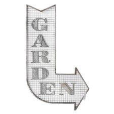 Metal Galvanized Wire Garden Arrow Wall Décor