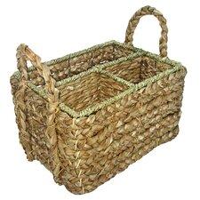 Seagrass Rectangular Garden Tool Basket