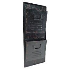 2 Tier Metal Wall File Pockets