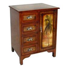 Wooden Palm Tree Design 1 Door Cabinet