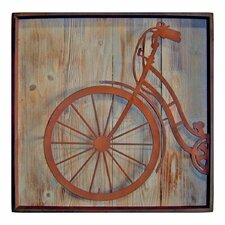 Metal Square Bicycle Front Wall Décor