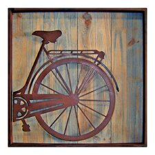 Wooden Square Bicycle Rear Wall Décor