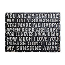 West You Are My Sunshine Textual Art