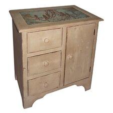 1 Door and 3 Drawer Cabinet