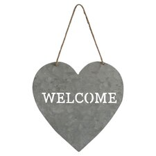"""Heart Shaped """"Welcome"""" Sign"""