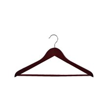 Gemini-Concave Suit Hanger with Wooden Bar (Set of 50)