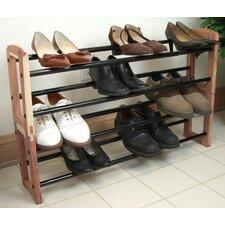 Expandable Stacking Cedar Shoe Rack