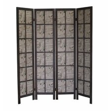 "67"" x 60"" Paris Folding Screen 4 Panel Room Divider"