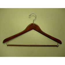 Gemini-Concave Suit Hanger with Lock Bar (Set of 50)