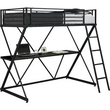 X Shaped Twin Loft Bed