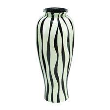 Polystone Lacquer Zebra Vase