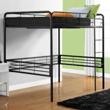 Full Loft Bed with Built-In Ladder