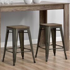 "Fusion 24"" Bar Stool (Set of 2)"