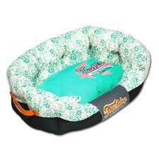 Floral-Galore Ultra-Plush Rectangular Rounded Designer Dog Bed