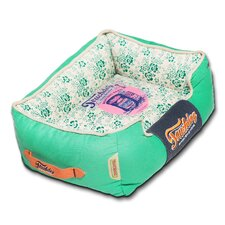 Floral-Galore Vintage printed Ultra-Plush Rectangular Designer Dog Bed