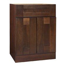"""Georgetown Series 24"""" Chestnut Bathroom Vanity Base"""