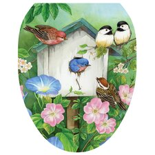 Blooming Birdhouse Toilet Seat Decal