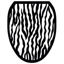 Zebra Toilet Seat Decal