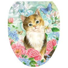 Soft Kitty Toilet Seat Decal